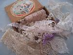lace in wooden  box