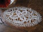 oval doily lace