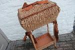 sewing basket stand