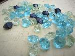 blue glass buttons