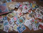 80 flower poststamps