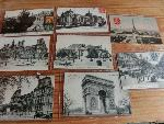 8 paris postcards