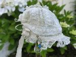 lace doll hat