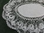 lace oval doily