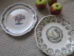 old plate set