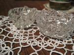 2 tiny glasses on lace