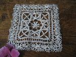squere lace doily