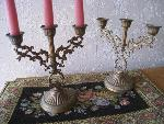 small candle stand set
